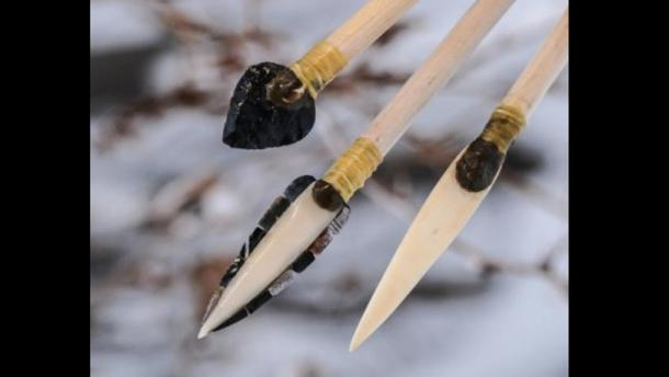 University of Washington researchers re-created ancient projectile points to test their effectiveness. From left to right: stone, microblade and bone tips.