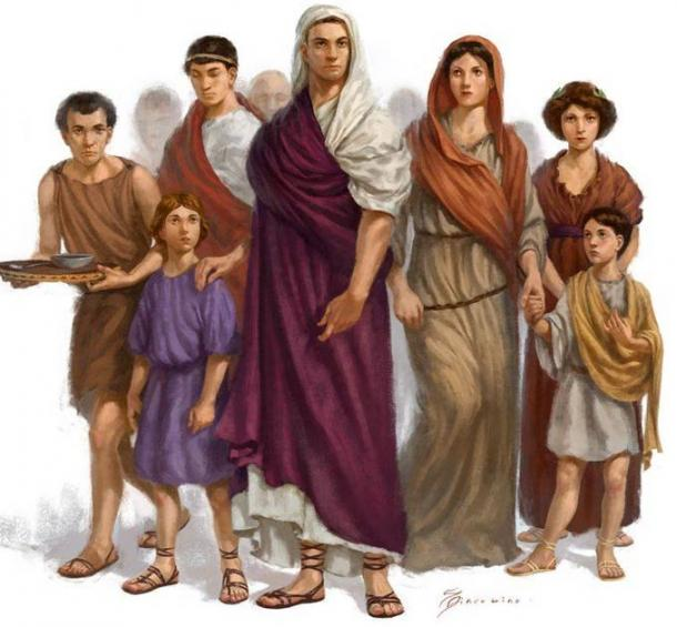 An ancient Roman family