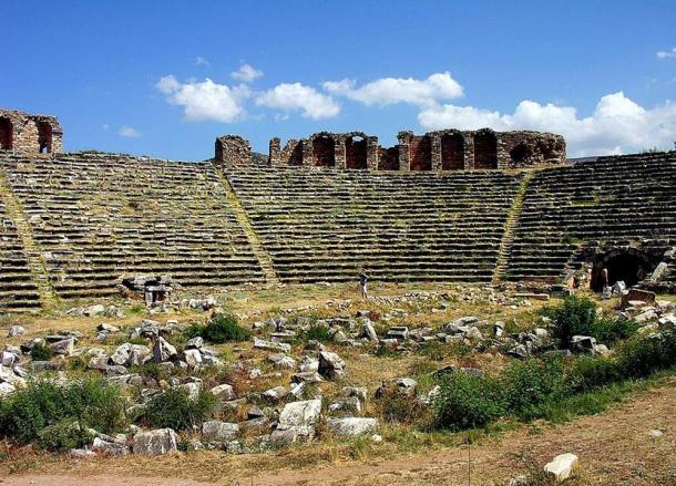 The ancient Roman stadium in Aphrodisias, Turkey
