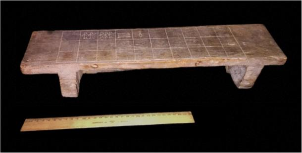 The ancient Egyptian senet ('game of death') board in the Rosicrucian Museum. (The Journal of Egyptian Archaeology)