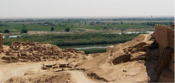 The ancient site of Dura-Europos on the Euphrates River in Syria