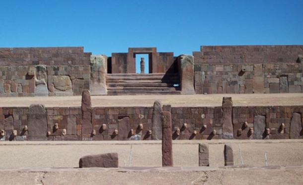 The ancient site of Tiwanaku in Bolivia (public domain)