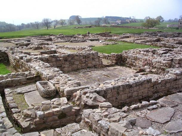The ancient site of Vindolanda, Northumberland