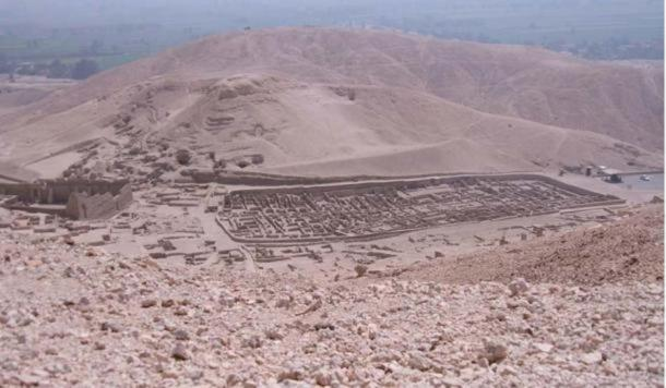 The ancient village of Deir el-Medina