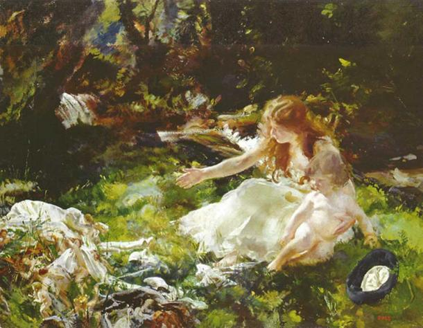 '...and the fairies ran away with their clothes' by Charles Sims.