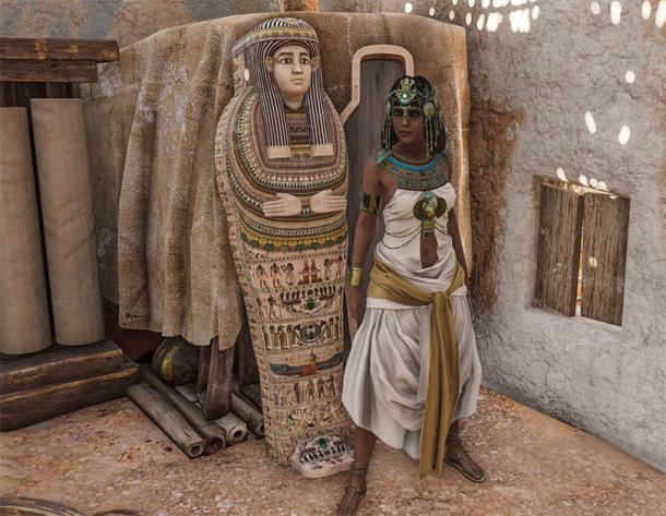 It is possible the animators at Ubisoft are closer to the truth with this portrayal of Cleopatra from Assassin's Creed Origins (CC BY-NC-SA 2.0)