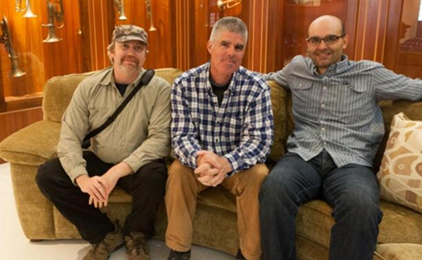 From Left: Hugh Newman, Jim Vieira, and Dr Ioannis Syrigos at the Crespi Museum in the Universidad Politécnica Salesiana, Cuenca, Ecuador.