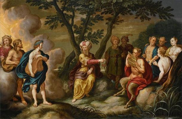 'Apollo and King Midas' (c. 1634) by Simon Floquet. (Public Domain)