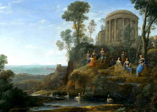 Apollo and the Muses on Mount Helicon. (Hohum / Public Domain)