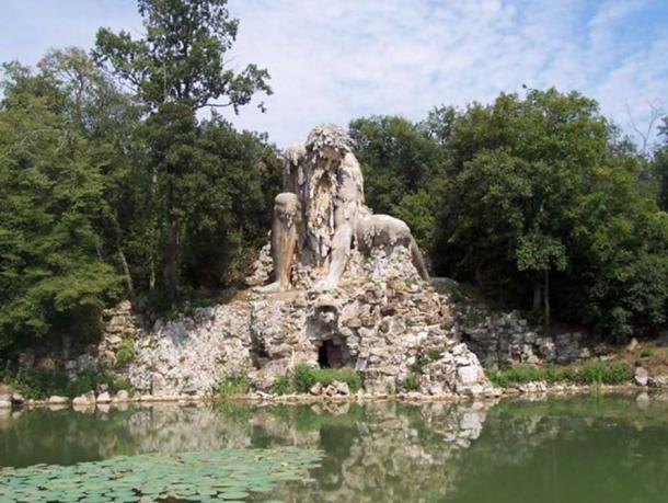 "Sculpture of ""Appennino"" from Giambologna. Located in Villa Demidoff, Pratolino (Florence, Italy)."