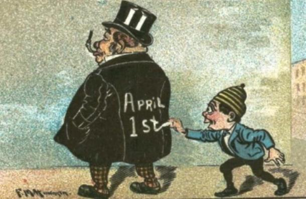 April Fools Day Cartoon. (Public Domain)