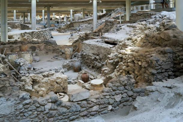 The archaeological site of Akrotiri.