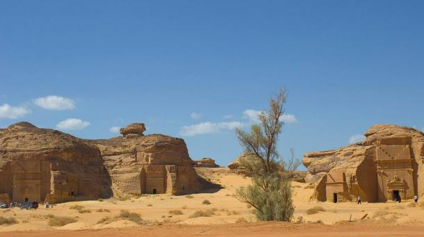 The archaeological site of Madâin Sâlih, Saudi Arabia