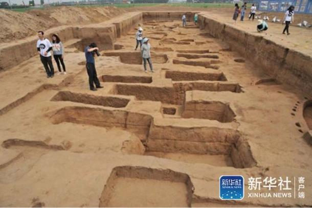 The archaeological site in Shandong.