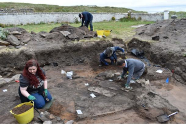 Archaeologists have recently unearthed the traces of an ancient Pictish fort in Scotland underneath an 1800s-era town. (Credit: University of Aberdeen)