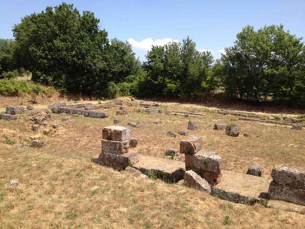 Archaeological area of Falerii Novi, Italy.
