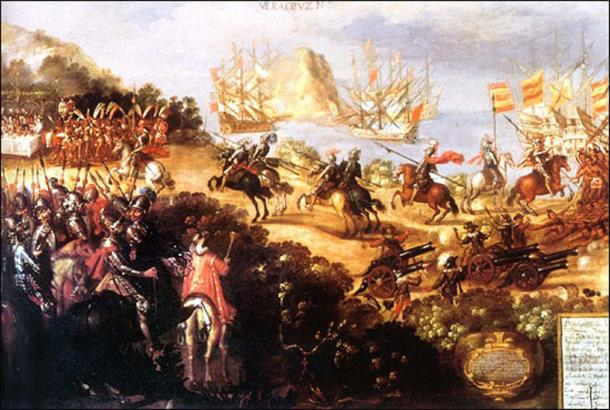 The arrival of Cortés in Veracruz and the reception by Moctezuma's Ambassadors