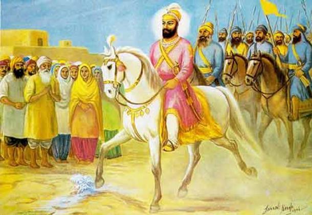 The arrival of Guru Hargobind.