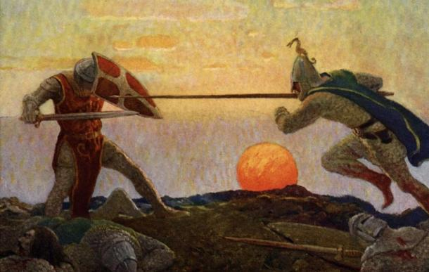 The Boy's King Arthur: the death of Arthur and Mordred