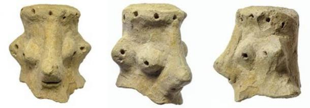 This unusual artifact discovered during excavations at Khirbet Qeiyafa has been the cause of the controversy. (Clara Amit / Israel Antiquities Authority)