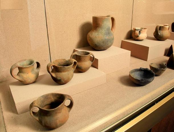 Display of artifacts found at Kokino Observatory.