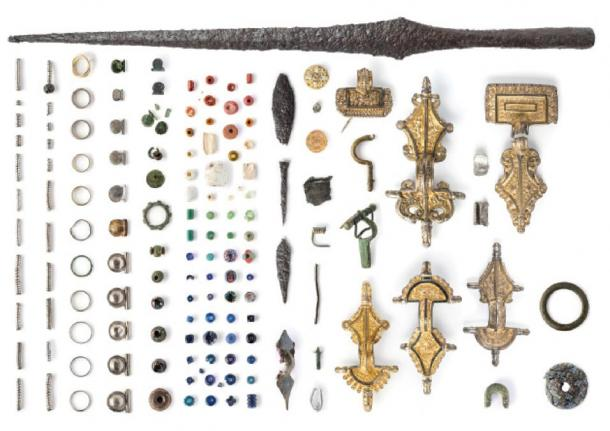 Some of the artifacts that have been unearthed at Sandby borg.