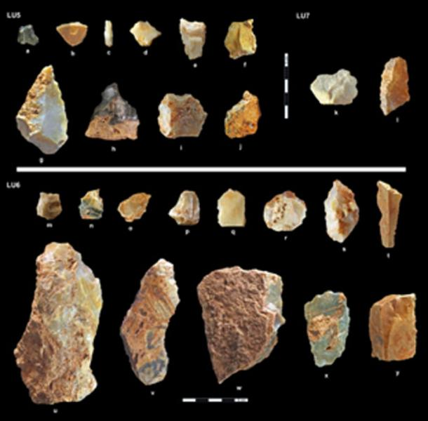 Artifacts from the excavation on Naxos where early humans migrated before previously believed. (Science Advances)