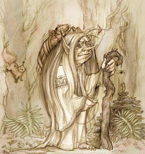 An artist's representation of Kikimora.