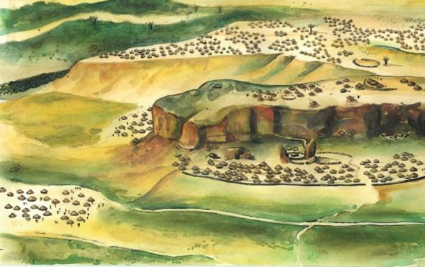 An artistic impression of Mapungubwe.