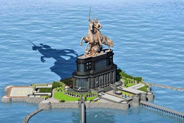 Another artistic interpretation of what the statue may look like.