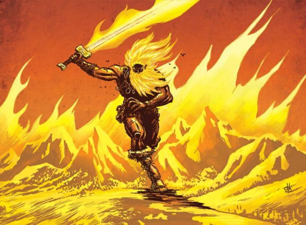 An artist's depiction of Surtr.