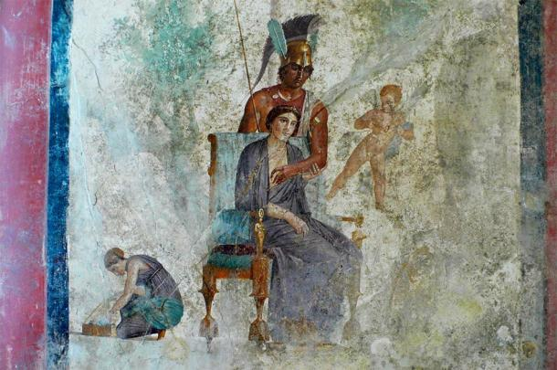 This Pompeii artwork suggests the presence of good and evil. (sovach / Adobe Stock)