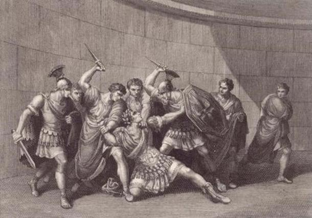 The assassination of Caligula. (akgimages)
