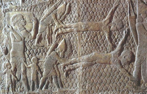 For more severe crimes, the Assyrians were also known to use capital punishment, e.g.  flaying. This was more common for the punishment of criminals such as rebel leaders.