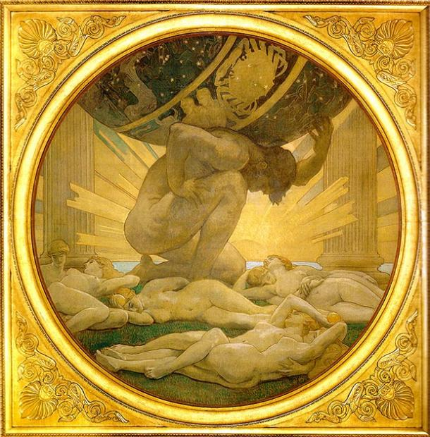 Atlas and the Hesperides. (Mattes / Public Domain)