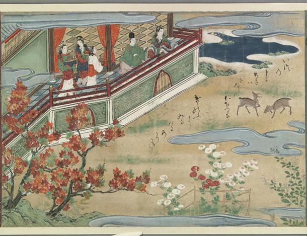 The season of autumn in the kingdom under the sea; The fisherman Urashima Taro, is transported to undersea kingdom of Ryugu-jo.