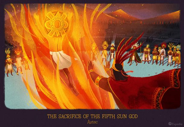 Aztecs - The sacrifice of the 5th sun