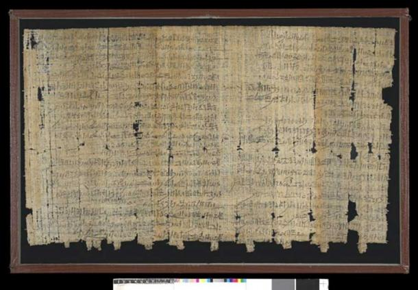 The back of Papyrus Salt 124. (The Trustees of the British Museum/CC BY NC SA 4.0)