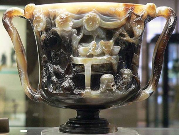 What is now considered the back view of the Cup of the Ptolemies, a Pagan cup turned into a Christian chalice.