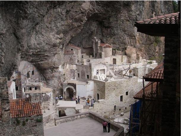 The 'backyard' of the Sumela Monastery