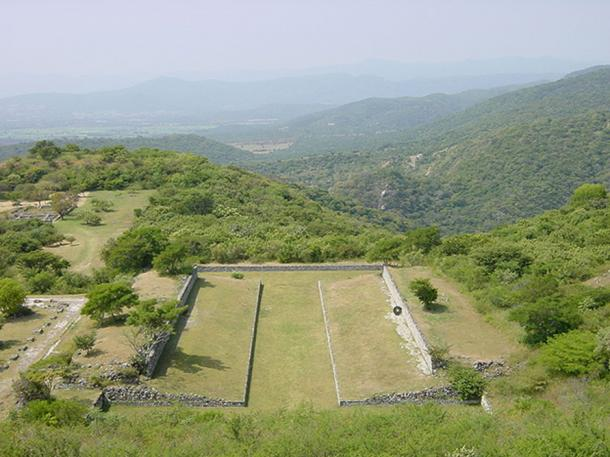 The primary ballcourt at Xochicalco.