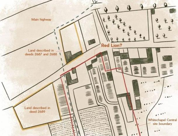 Based on their investigations, Archaeologists from Archaeology South-East have produced a map of what the site may have looked like. (Archaeology South-East / UCL)