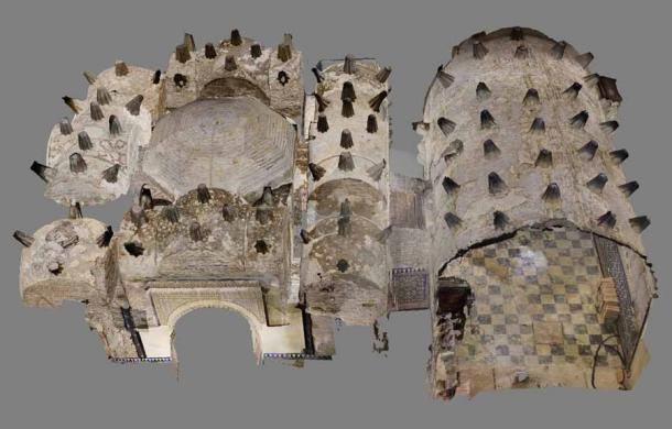 In order to understand the structure of the Seville bathhouse, the archaeologist Margarita de Alba has used photography to recreate how this bathhouse would have looked in the 12th century. (Margarita de Alba)
