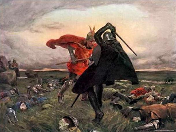 The battle between King Arthur and Sir Mordred is mentioned in Arthurian legend. (Shakko / Public Domain)