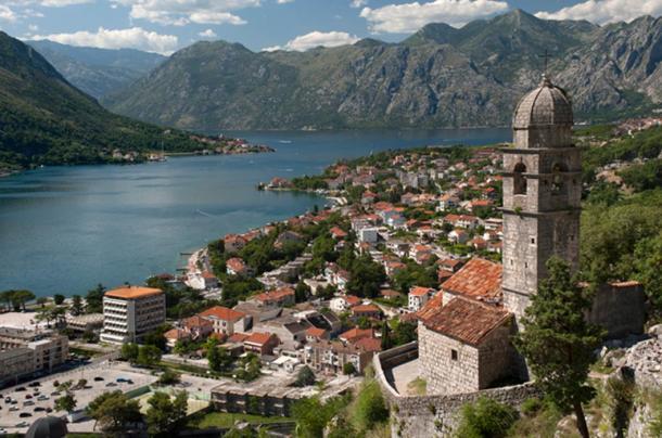 The beautiful city of Risan, Montenegro