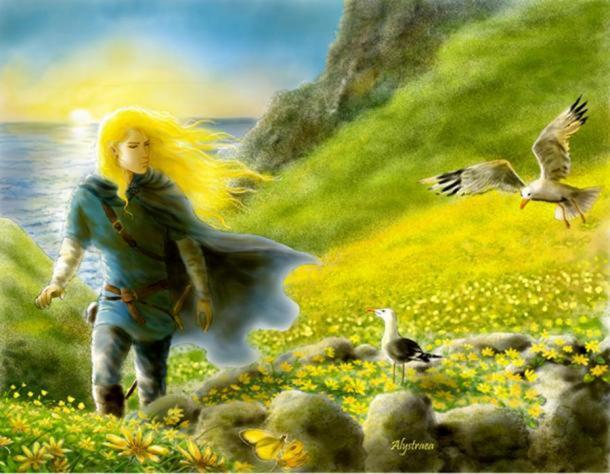 A beautiful elf imagined by an artist.