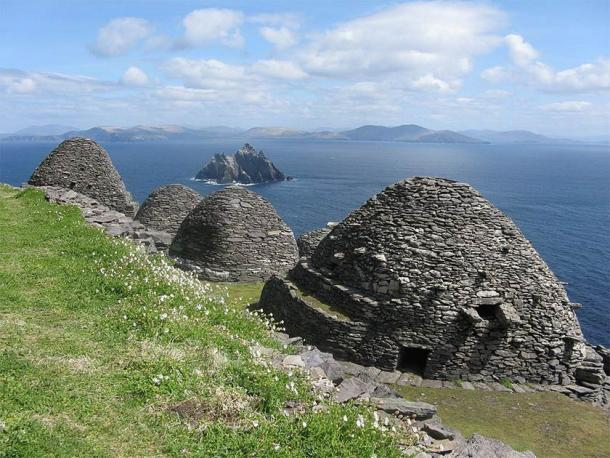 Ancient beehive hut structures at Skellig Michael in County Kerry, Ireland, used as settings in two Star Wars movies, now attract way too many tourists. (Towel401 / CC BY-SA 4.0)