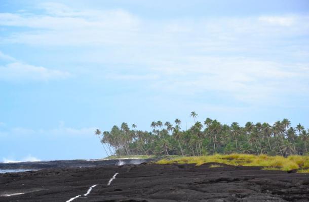 The black lava of Savaii