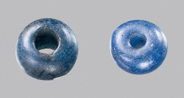 Two blue glass beads from 3,400-year-old graves in Denmark came from ancient Egypt, possibly through trade routes.