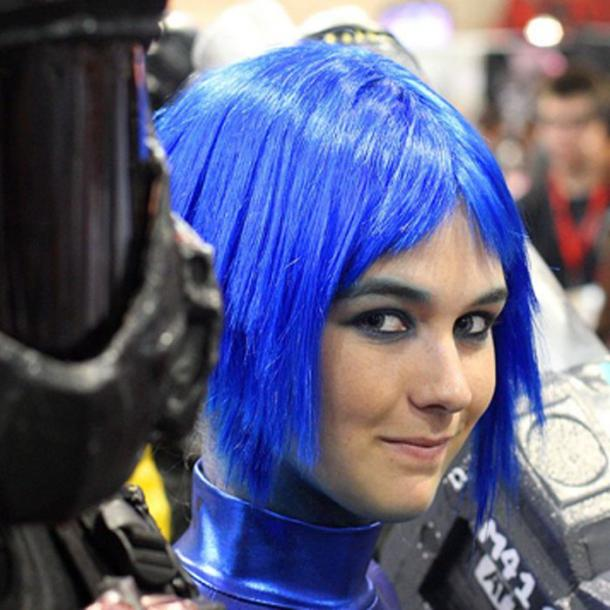"Today, blue hair is archetypal for ""the future"" but in the past we couldn't even see it. (CC BY 2.0)"
